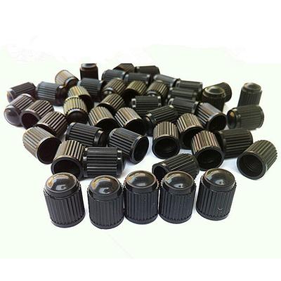 4PCS New High Qualtiy Design Black Plastic Car Tyre Tube Cycles Valve Dust Cap(China (Mainland))
