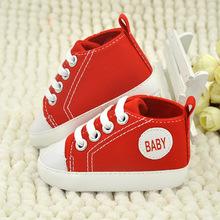 Bambino scarpe di tela antiscivolo morbida neonati toddlers scarpe multi colori 0-1 anni di età del bambino scarpe di tela spedizione gratuita(China (Mainland))