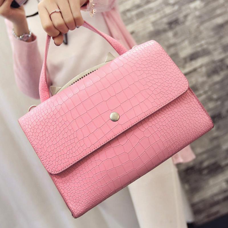 2016 new spring leisure handbag stone small bag Fashion Shoulder Bag Handbag Satchel embossed