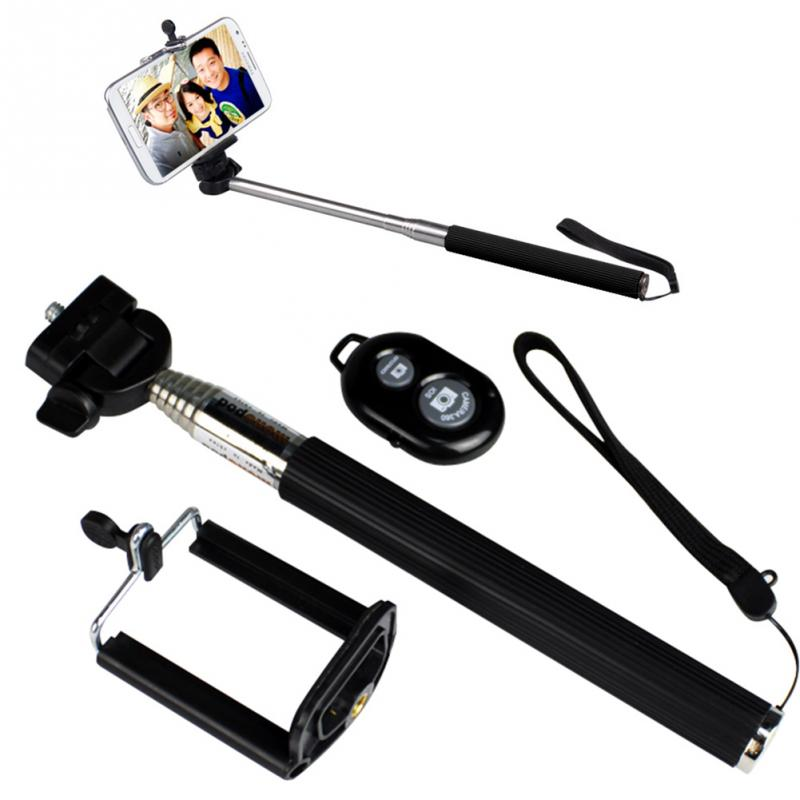 handheld extendable self selfie stick handheld monopod clip holder bluetooth. Black Bedroom Furniture Sets. Home Design Ideas