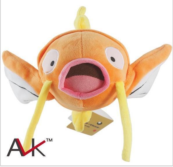 "New Lovely Japanese Anime Cartoon Pokemon Magikarp Plush Toys pocket monster Soft Stuffed Animal Doll 8.3"" 21cm Baby Toy Gift 35(China (Mainland))"
