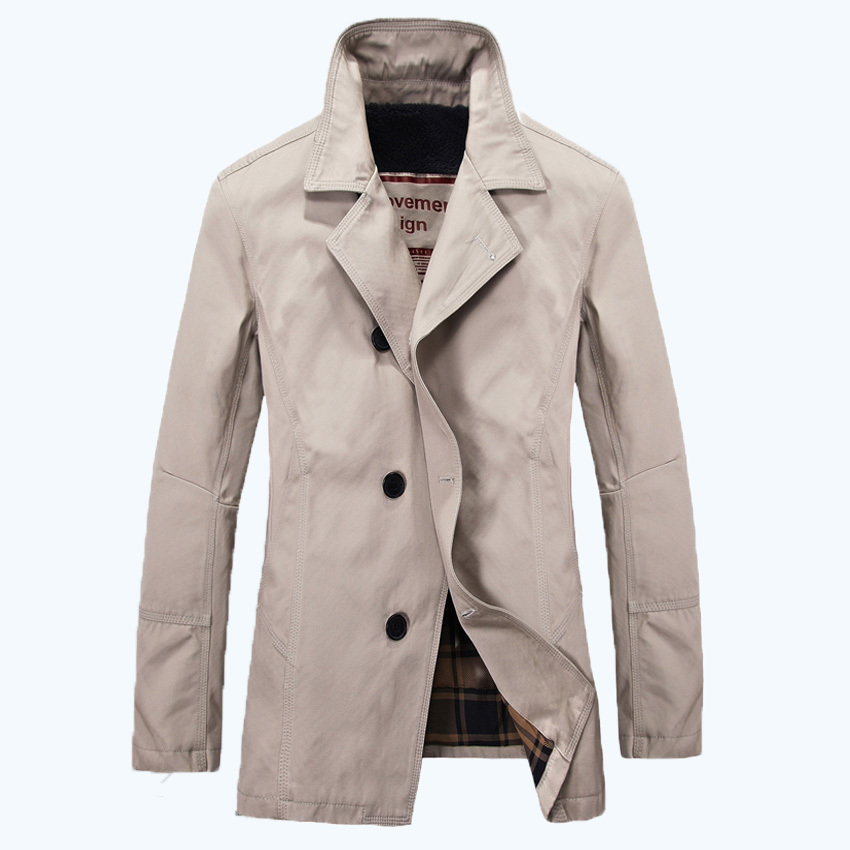 Free Shipping 2015 Men's Trench Jacket Fashion Stylish Solid Trench Coat Men Famous Brand Men Jacket Top Sale DL 73(China (Mainland))