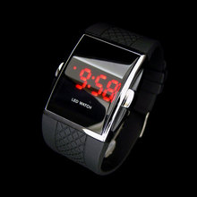 Hot style LED Wrist watch Gifts Kid boys Men Black E1Xc