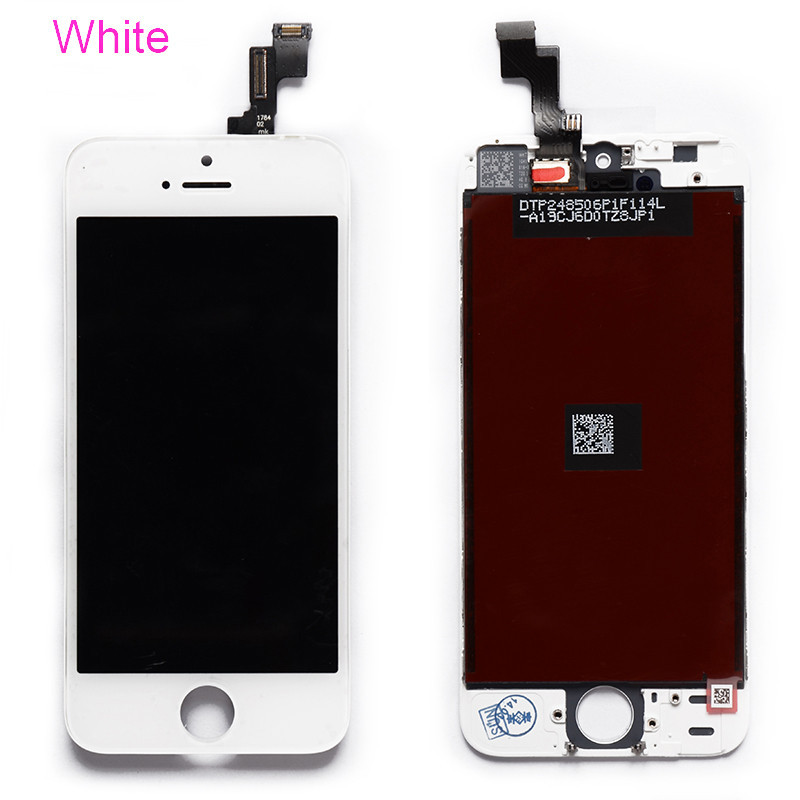 100% Brand New White LCD Screen for iPhone 5C Display With Touch Screen Digitizer Assembly Free Tools Free Shipping