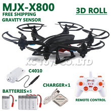 Free shipping MJX X800 RC helicopter drones quadcopter with C4010 Wifi FPV HD Camera add 4pcs battery AS gift VS Syma X5SW /X400