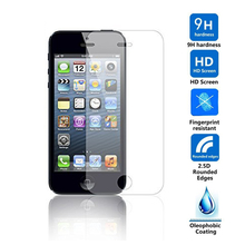 Tempered Glass Screen Protector Film For Apple iphone 5 5S 5C.Anti Shatter Film For iPhone5s Guard