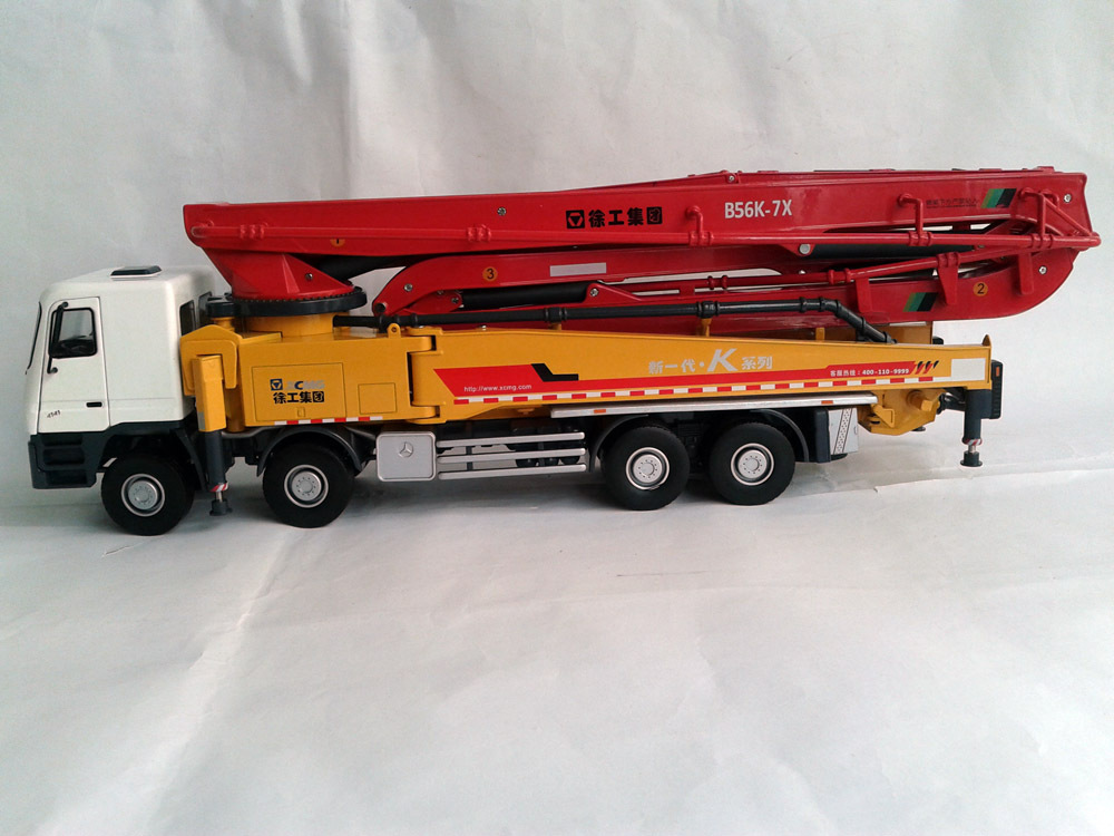 Guaranteed 100% 1:38 XCMG HB56K Truck-mounted concrete cement pump toy(China (Mainland))
