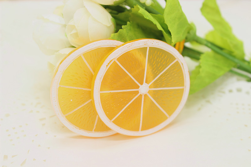 5pcs/ cute resin deco Big orange Sliced flatback Cabochons resin crafts for phone deco diy accessories(China (Mainland))