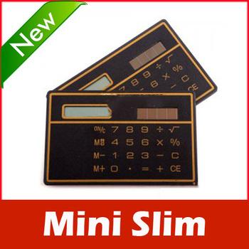 Mini Slim Credit Card Solar Power Pocket Calculator