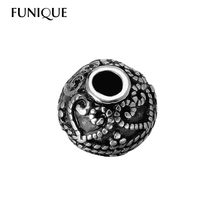 Buy FUNIQUE 1PC 316L Stainless Steel Silver Vintage Flower Gothic Punk Spacer Charm Beads Fit European Bracelet DIY Jewelry Findings for $1.33 in AliExpress store