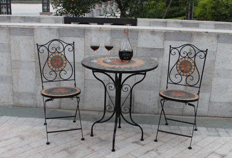 metallo patio tavolo promozione-fai spesa di articoli in ... - Metallo Patio Tavolo E Sedie Rotondo