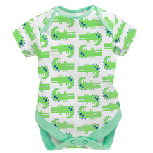 Buy Crocodile Print Baby Bodysuits Summer Babies Clothes Bebe Roupas Green Jumpsuit Body Suit 100% Cotton for $6.90 in AliExpress store