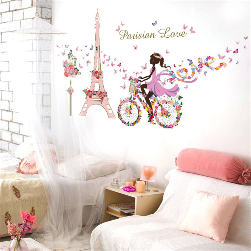 Popular paris murals kids rooms buy cheap paris murals kids rooms lots from china paris murals - Decoratie themakamer paris ...