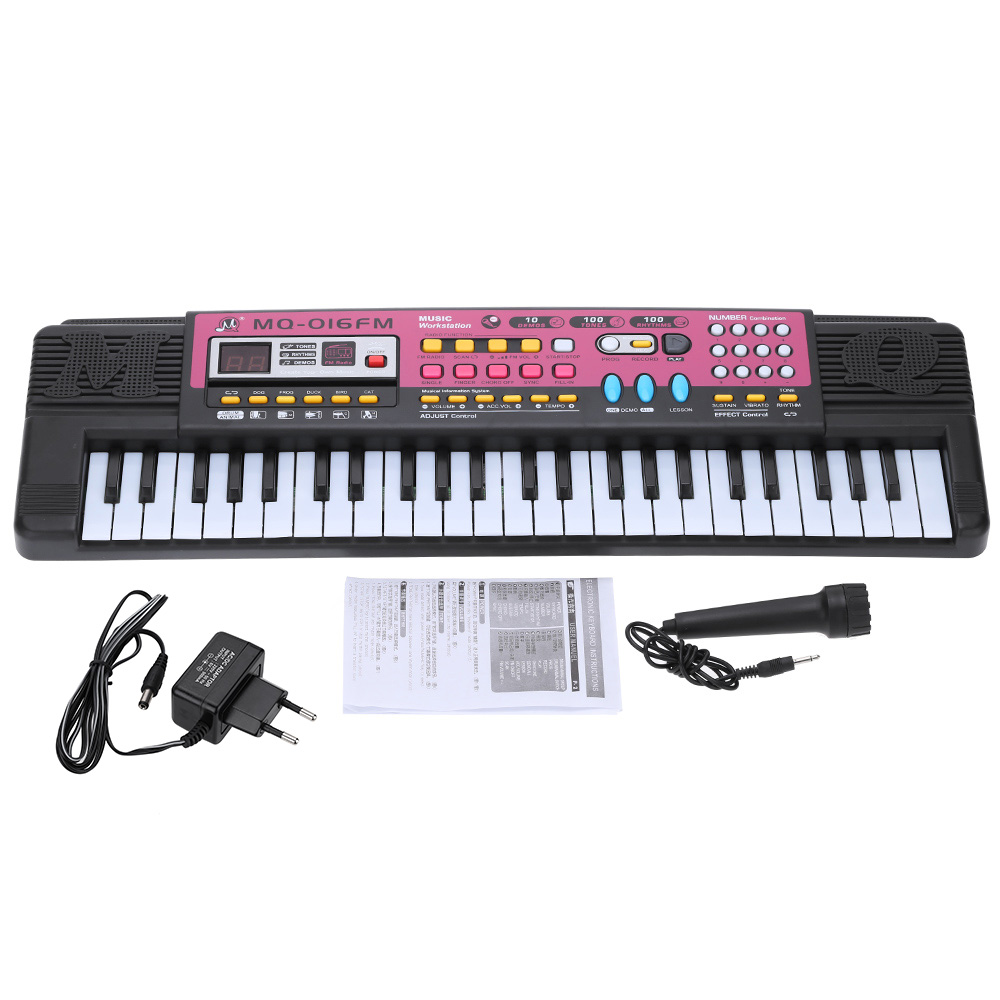 "21"" Electone 49 Keys Electronic Keyboard Music Toy Musical Instrument with FM Radio Play Microphone Gift for Children Beginners(China (Mainland))"