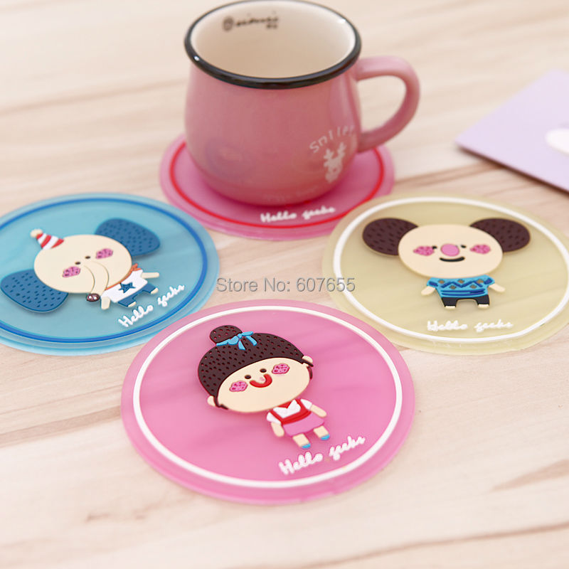 Home Decoration Cute Cartoon Placemat Table Mat Cup Mat