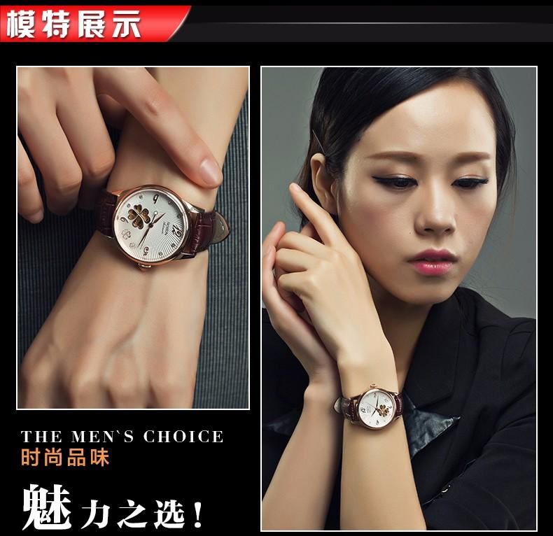ROSDN Пара Люксовый Бренд Женщины Часы Кожа Девушки Смотреть Водонепроницаемый Моды Бренд Механические Наручные Часы Мужчин Часы Reloje Mujer