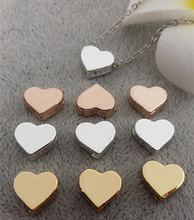 Buy 50pcs/lot alloy Metal Charms Jewelry DIY Making silver gold heart Beads Spacer Bead necklace for $13.80 in AliExpress store