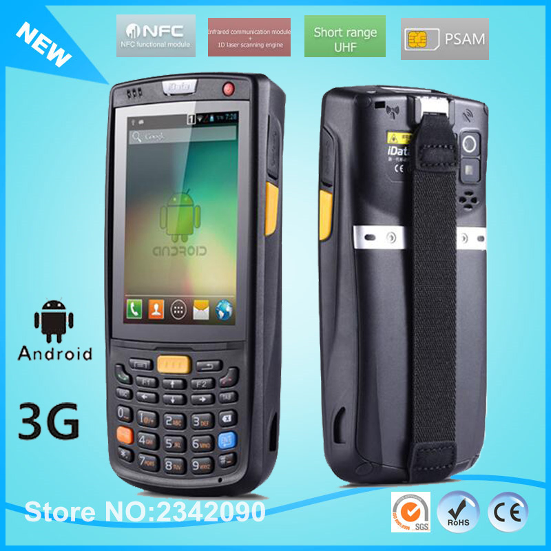 3.5 inch handheld data thermal wireless Android 1D 2D laser barcode scanner POS data collector PDA bluetooth, Wifi,GPS