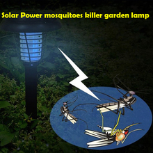 UV LED Solar Powered Outdoor Yard Garden Lawn Anti Mosquito Insect Pest Bug Zapper Killer Trapping Lantern Lamp Light with spike(China (Mainland))
