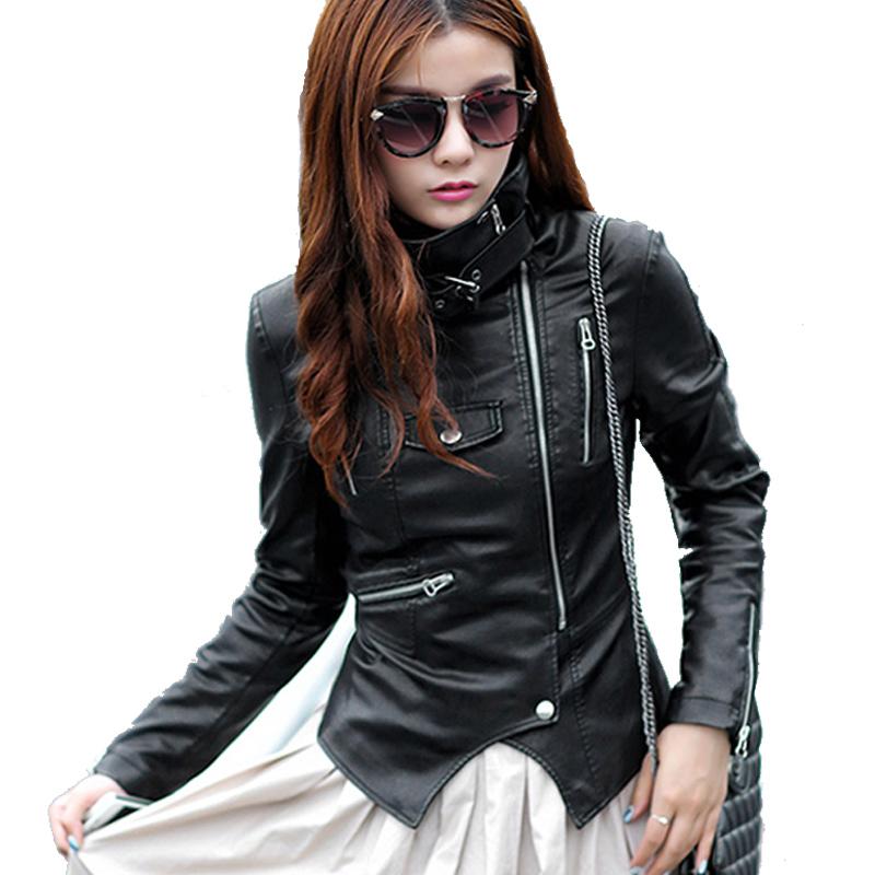 buy leather jacket women jaqueta de couro chaqueta cuero 2015 veste en cuir. Black Bedroom Furniture Sets. Home Design Ideas