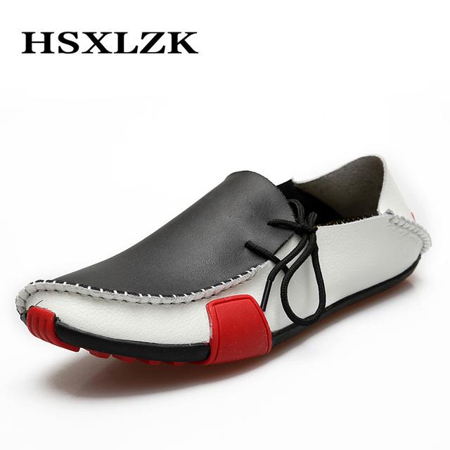 2015 мужская мокасины обувь из натуральной кожи высокого качества коровьей квартиры ...