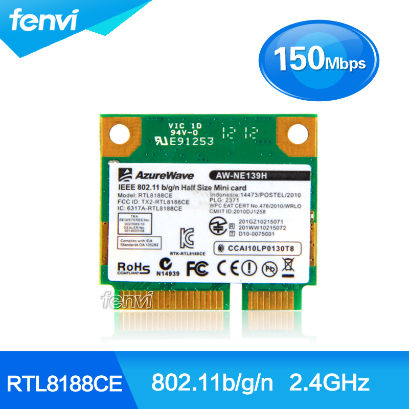 RealTek RTL8188CE Laptop PCI Express wifi card Wireless Wlan WiFi Adapter for Acer ASUS Dell Half Mini PCI-e network(China (Mainland))