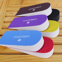 Unisex Adjustable Heighten Height Increase Insoles 2016 New Fashion 7 color Higher Shoes Pads 2 Layer Taller