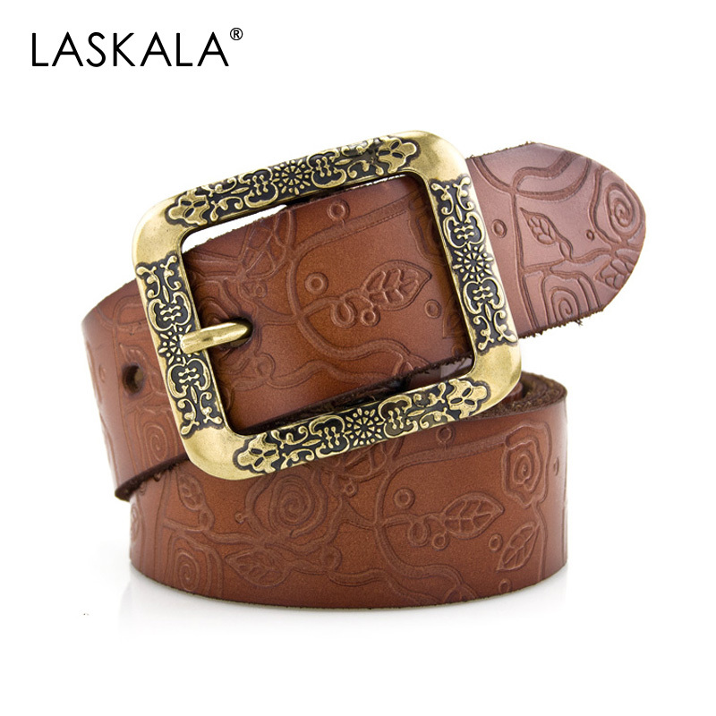 2015 New Arrival Genuine leather women's vintage belt all-match belt for women good quality 7 candy color 3040 strap female belt(China (Mainland))