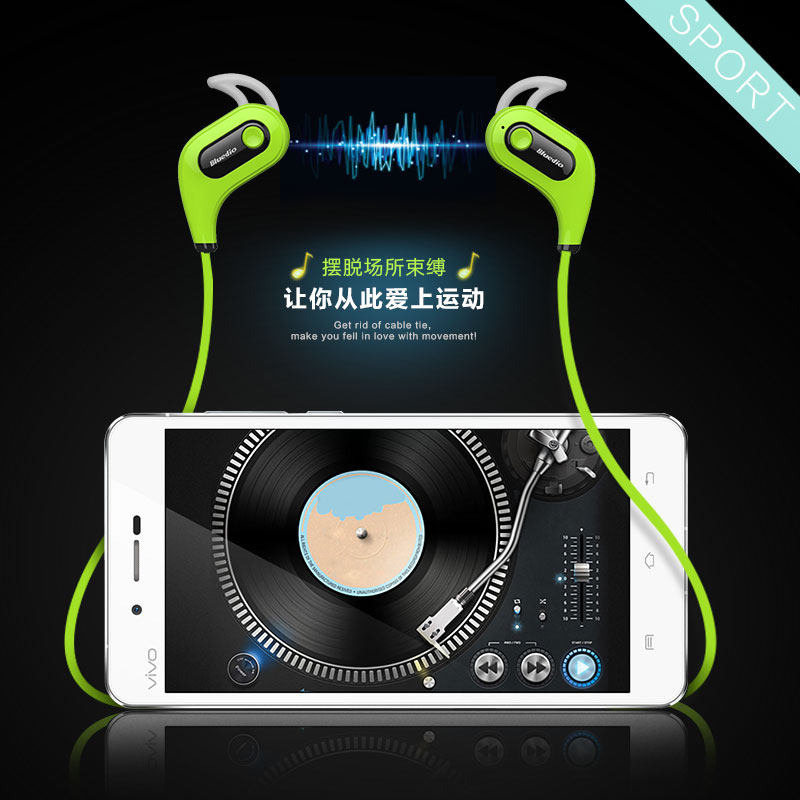 Bluedio S6 Bluetooth 4.1 Fashion Wireless Sports Headphones Mini Music Stereo Earphone Built-in Microphone Water/Sweat Proof<br><br>Aliexpress