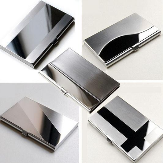 Stainless Steel Silver Aluminium Business ID Credit Card Case Puscard L09407(China (Mainland))