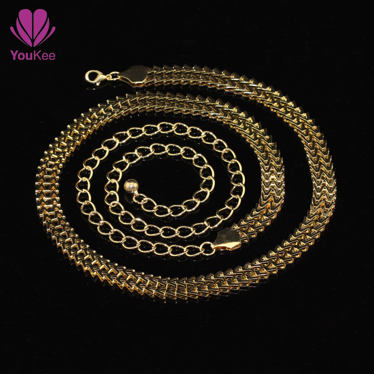 News queen spring gold chain belts for women 110cm long belly bright waist chain belts free cintos femininos(China (Mainland))