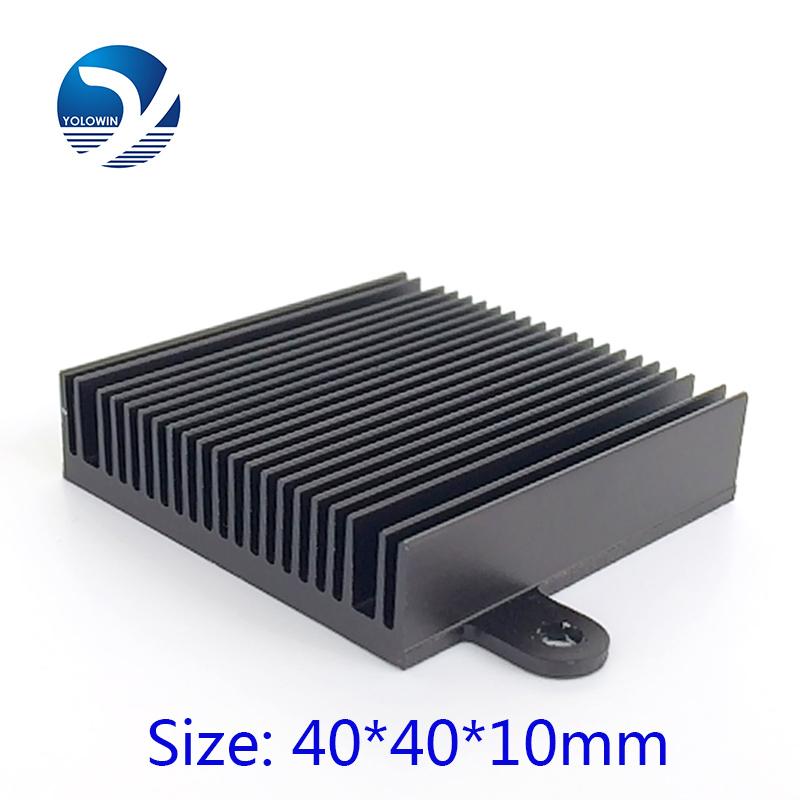 High Quality 40*40*10mm 2pcs/lot Aluminum Heat Sink radiator for electronic Chip LED RAM COOLER cooling YL-0003(China (Mainland))