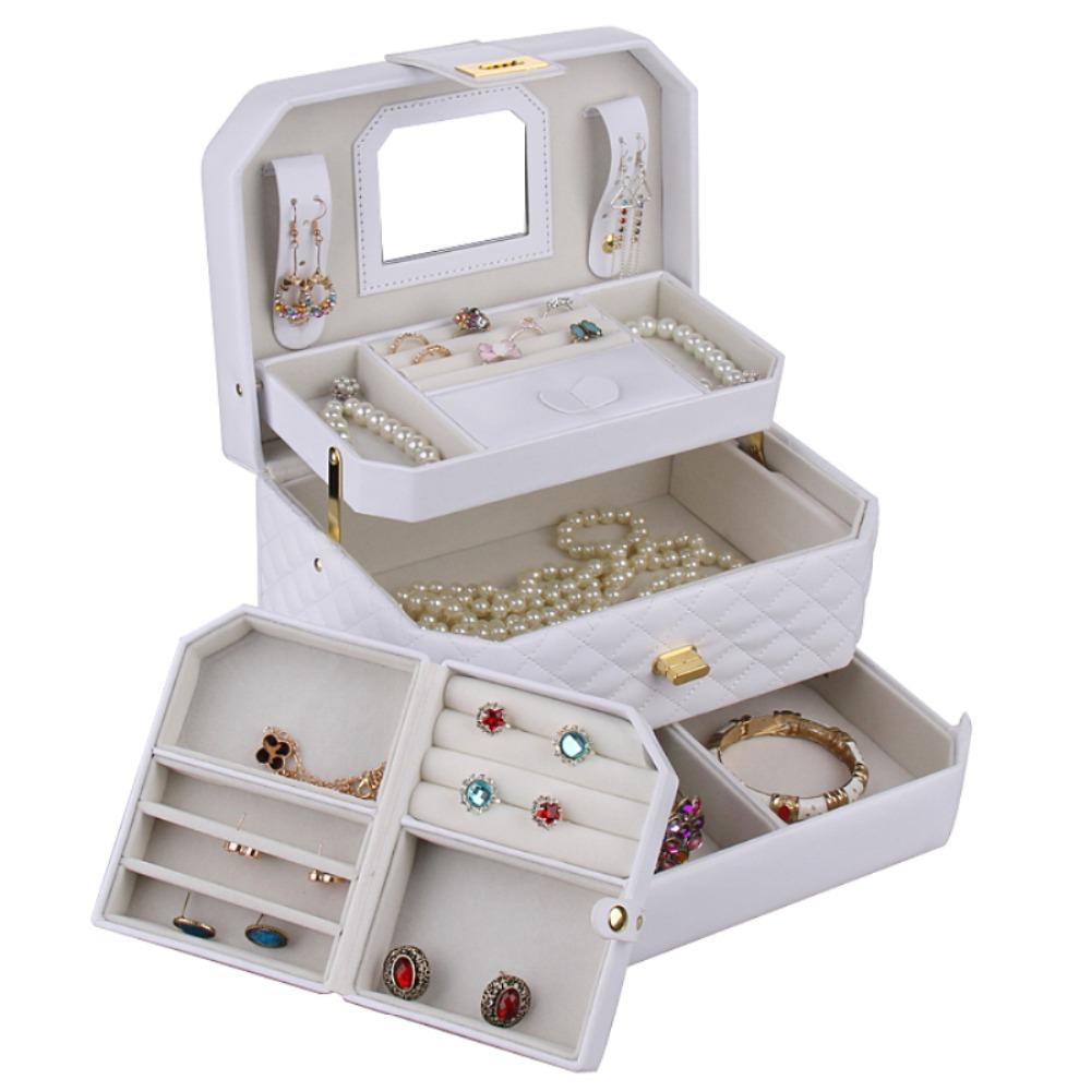 [New Design] BLACK Beads Ring Bracelet Storage Travel CaseDisplay Box Organizer Gift Jewelry Box ZG223(China (Mainland))