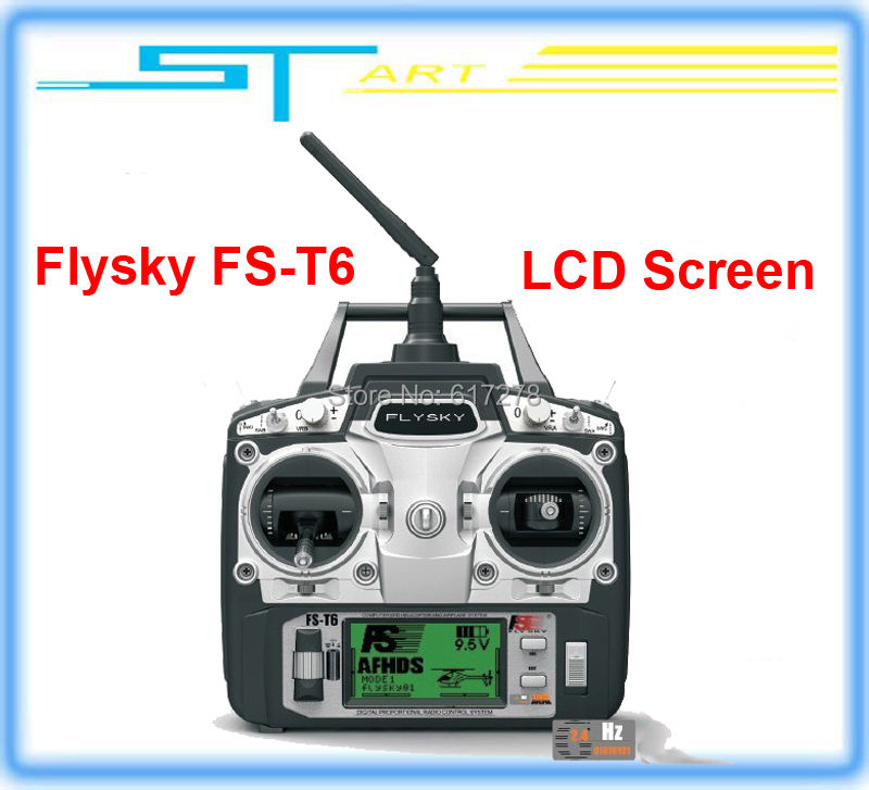 2014 Free shipping Flysky FS-T6 FS T6 6ch 2.4g with LCD Screen Transmitter with FS R6B Receiver For RC Helicopter AirPl girl toy<br><br>Aliexpress