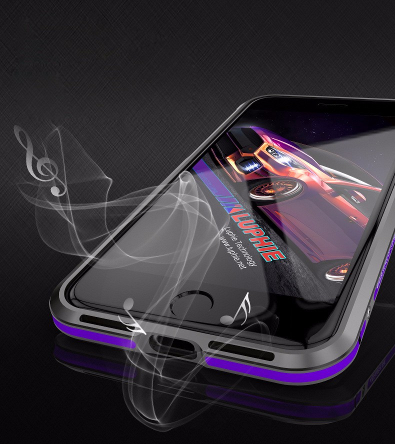 Luphie Mobile Phone Ultra Thin Metal Aluminum Bumper Frame Case Cover For iPhone 7 7 Plus Shockproof Case