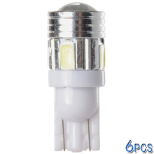 High Quality 6pcs T10 12V 6 SMD 5730 Car LED Bulbs Reverse White Lights RV Trailer MA251