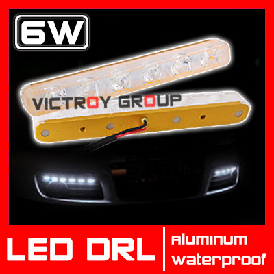 12V 6W LED Daytime Running Light Waterproof Universal LED DRL Day Lighting Lamp Kit Car Driving External Light Save on 8w 9w<br><br>Aliexpress
