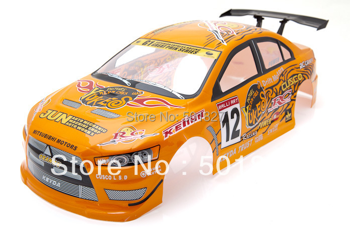rc parts shell body  RC Modellautos Karosserie Mitsubishi Lancer Evo Hulle 1/10 rc car body shell 190mm    free shipping<br><br>Aliexpress