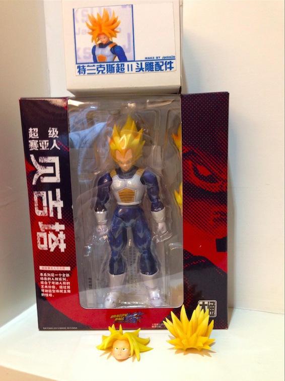 IN STOCK: Vegeta with NEW Trunks Head Dragon Ball Z Super Saiyan Vegeta Action Figure Chinese Version(China (Mainland))