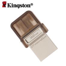 Kingston OTG usb flash drive pendrive Smartphone Micro Memory pen drive 2.0 16gb 32gb 64gb USB Portable Storage Stick microDuo