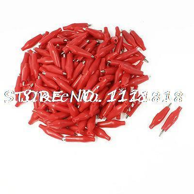 150 Pcs Insulated Electrical Alligator Clips Red 26mm for Test Lead<br><br>Aliexpress