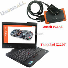 Autek PCI A6 Professional Diagnostic Tool Key Programming EPB Update Online OBD2 Automotive Scanner+Thinkpad X220T Laptop(China (Mainland))