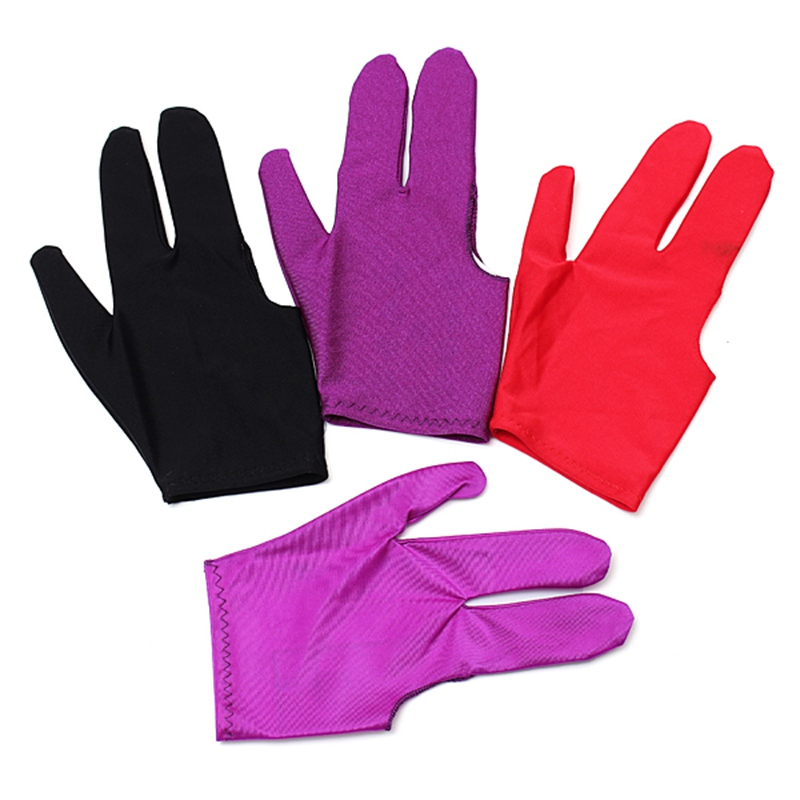 1pcs Snooker Nylon Billiard Pool Table Cue Shooters 3 Fingers Gloves Stretchable(China (Mainland))