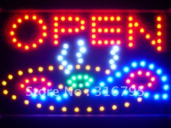 led141-r Pizza Shop OPEN Cafe Led Neon Sign WhiteBoard