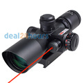 New Tactical Red Dot Laser hunting Sight 2 5 10X 40mm Scope Reflex Red Green Reticle