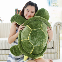 Huge Size Plush Tortoise Toy Cute Turtle Plush Pillow Stuffed Cushion for Girls Vanlentine's Day Gift(China (Mainland))