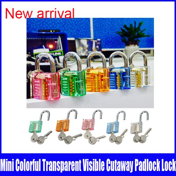 Mini colorful transparent practice lock Random practice lock made in China(China (Mainland))