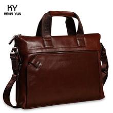 vintage cowhide men handbags shoulder bag business bolsos casual genuine leather bag men's briefcase(China (Mainland))