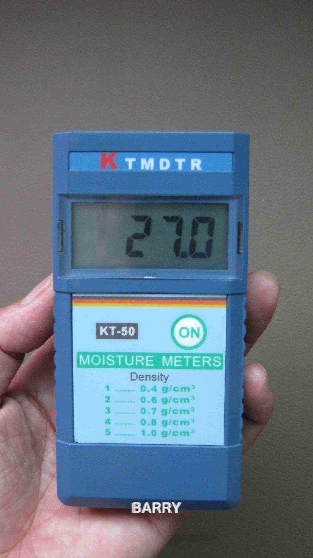 KT-50 wood moisture meter digital timber moisture meter tree humity meter 2%~90% Resolution: 1%