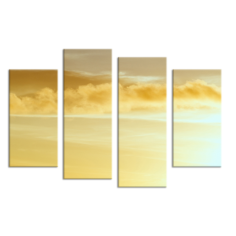 Hot Sells 4 Panels nature scenes Clouds Painting Canvas Wall Art Picture Home Decoration Living Room Print On Canvas modern art(China (Mainland))